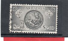 Barbados GV1 1950 $2.40 black, sg 282 Used