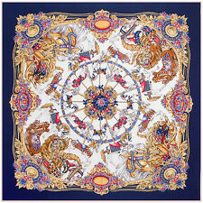 """Women's Twill Silk Square Scarf with the Pattern of Merry-go-round 51""""*51"""""""