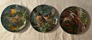 kevin daniel plates 3rd 6th & 10th Hand painted In Great Condition
