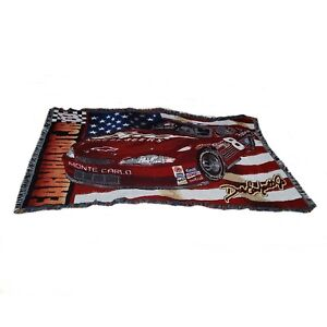 NASCAR Dale Earnhardt Jr Woven Tapestry Throw Acrylic Blanket Budweiser #8 40x56