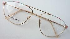 Morel dünnrandige Metallfassung Pilotenbrille Unisexgestell lunettes edel size L