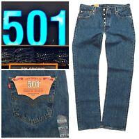 Levis 501 Men's Original Straight Leg Denim Levi's Blue Jeans 501-0193 Stonewash