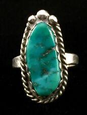 Elisabeth Guerro Navajo Sterling Silver Turquoise Ring (Sz 5.5) B107