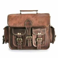 New 1 Sides Pouch Brown Leather Motorcycle Side Pouch Saddlebags Bag Panniers