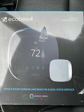 ecobee ecobee4 Alexa Enabled Smart Thermostat with Sensor (EBSTATE401)