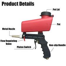 90 PSI Portable Gravity Sandblasting Gun Pneumatic Small Sand Blasting Tools X0p
