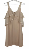 BNWT Paper Heart Womens Peach Sleeveless Shift Dress Size 10