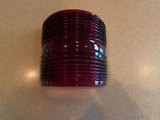 """New listing Red Fresnel Glass Running Light Lens & 7 1/4"""" Tall Vintage Maritime"""