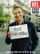 Publicité advertising 2007 Radio RTL avec Christophe Hondelatte