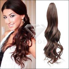 Femme Cheveux Pince Extension Queue de Cheval Style Clip Brun Léger 45x7.5 cm