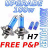 H7 100w Xenon Ampoules Phare Amélioration Niveau / Haut Faisceau Blanc Léger
