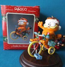 Enesco Ornament 1990 1991 1992 Garfield Trouble on 3 Wheels