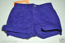 Gymboree girl spring purple shorts 18-24 months NWT 100% cotton bottoms