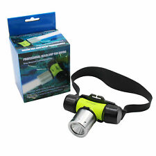 CREE LED Headlight Headlamp Underwater Diving Flashlight Head Torch White Light