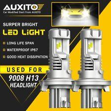 2X AUXITO H13 9008 LED Headlight Kit 24000LM M3 for GMC Yukon XL 1500 2007-2014