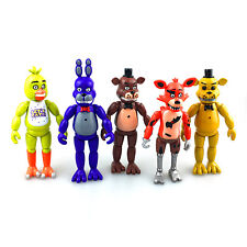 5pcs/Set Five Nights at Freddy's FNAF Action Figures Bonnie Chica Foxy Bear Toys