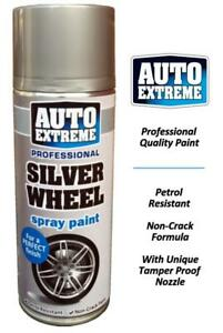 1 x 400ml Silver Wheel Matt Spray Paint Aerosol Can Auto Extreme Metal Plastic