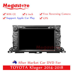 """9"""" Car DVD GPS Head Unit For TOYOTA Kluger 2014-2018 Apple CarPlay android auto"""