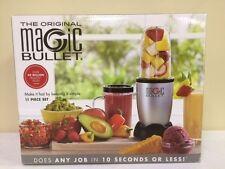 The Original Magic Bullet 11 Piece Set Blender & Mixer, Small, Silver, Brand New
