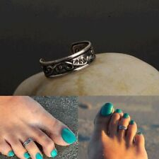 Foot Beach Feet Jewelry Gift Uk Womens Vintage Silver Solid Toe Ring Adjustable