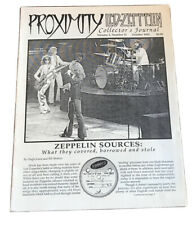 Proximity Led Zeppelin Collectors Journal Vol 4 No 11 October 1993