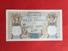 1000 FRANCS CERES et MERCURE 13 OCTOBRE 1938 BILLET FRANCAIS en ETAT pr.TB -