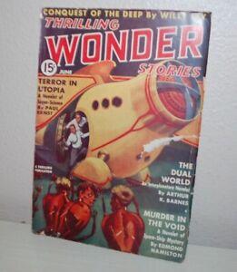 Thrilling Wonder Stories Magazine, June 1938. ORIGINAL OWNER!