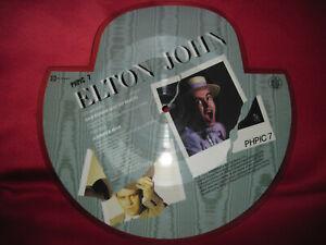 """ELTON JOHN Sad Songs Shaped Picture Disc 7"""" Vinyl 1984 PHPIC7 Rocket Record"""