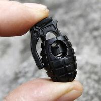 5Stück Handgranate Schnürsenkel Schnalle Stopper Seilklemme Schnur-Verschlu B5N8