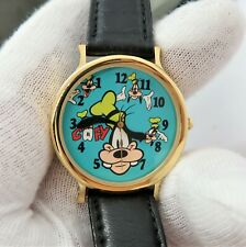 GOOFY Disney Time Works,Backwards Ear Hands Kids RARE CHARACTER WATCH.R10-04,NIB