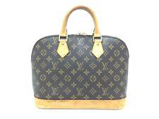 "Auth Louis Vuitton Monogram Alma Hand Bag Vintage 0G020010n"""