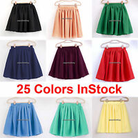 JC Chiffon Mini Skirt Short Retro Women Lady Girl Pleated Jupe Waist Maxi Dress