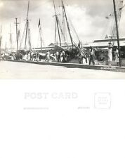 CURACAO PORT VINTAGE REAL PHOTO POSTCARD RPPC