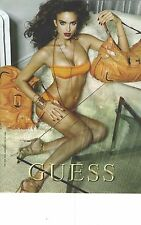 PUBLICITE ADVERTISING 2009   GUESS haute couture sous vetements sacs chaussures