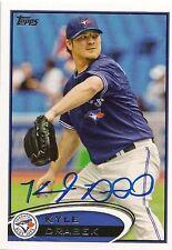 Kyle Drabek Toronto Blue Jays Signed 2012 Topps Card
