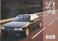 2139PE Peugeot 605 Prospekt 1994 deutsche Ausgabe 28 Seiten brochure catalogue