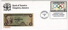 JAMAIQUE BANK OF JAMAICA ENVELOPPE COMMEMORATIVE 1976 KINGSTON OLYMPIQUE 21