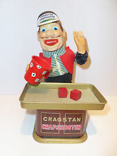 Vintage 1950s Battery Operated Cragstan Crapshooter Dice Tin Toy Made in Japan