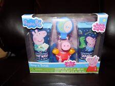 NEW Disney PEPPA PIG Soap & Scrub GIFT Box SET Body Wash Bath Pouf Toy Shampoo