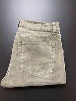 Uniqlo Womens Corduroy Jeans Size 31 x 32 Straight Leg Grey Blue