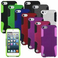 Color Hybrid Rugged Mesh Hard/Soft Case Cover For ipod touch 5th 6 6th Gen 5G 5
