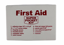 Super Pocket First Aid Kit Emergency Survival Bug-Out-Bag Medical Supplies