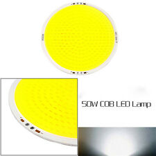 108MM 50W Ultra Bright Round Pure White/Warm White COB LED Diy Chip Light Lamp D