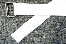 STRIPED WHITE 29 DOUBLE SQUARE WEB BELT MENS NEW