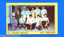 Figurina CAMPIONI DELLO SPORT 1970/71 - n. 179 - NOVARA - HOCKEY ROTELLE -rec