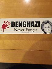 BENGHAZI NEVER FORGET.  ANTI HILLARY STICKER. TRUMP