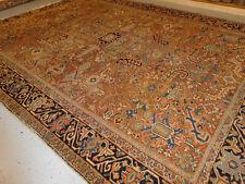 Antique Serapi Heriz rug 8.5x11.4 Persian carpet lovely distressed ca.1920s