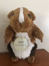 """New listing Ray Munchies Guinea Pig Brown White Hamster Blockbuster Stuffed Plush 7"""" Toy"""