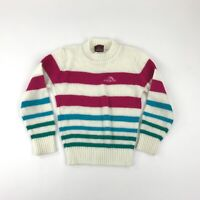 Vintage Jordache Sweater Girls Youth Crew Neck Striped Pullover Long Sleeve
