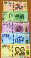 Banknotes SET Burundi, 500;1000;2000;5000;10000 Francs, 2015, P-New, UNC